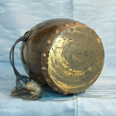Vintage Japanese Taiko Drum Stand Wooden Nagado-daiko TokaidoSoftypapa